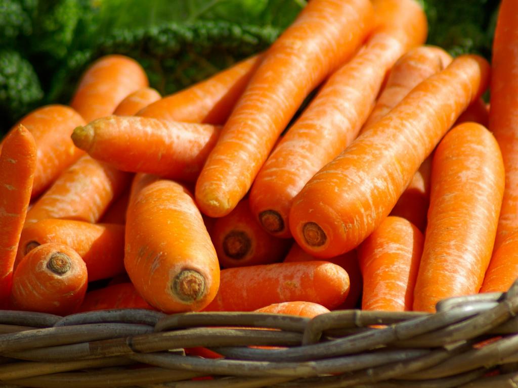 Human-grade carrots
